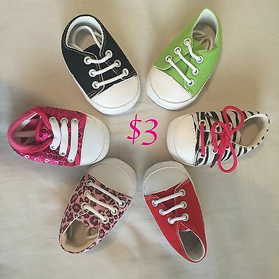 WHOLESALE Lot Baby Shoes, Girl Boy, Baby booties, 6-12 months or 12-18 sequin