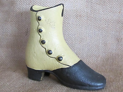 CAST IRON ANTIQUE PAINTED Victorian Women's Shoe/ Boot ADVERTISING DISPLAY PIECE