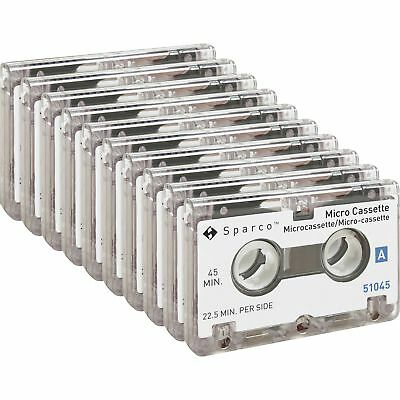 Sparco Dictation Cassettes Micro 45 Minute 10/Box 51045BX