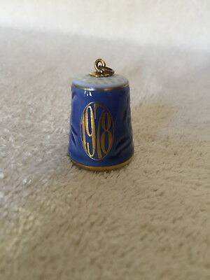 Bing & Grondahl Thimble with Gold Loop to wear as necklace
