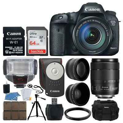 Canon EOS 7D Mark II DSLR Camera with 18-135mm IS USM Lens & W-E1 Wi-Fi Adapter
