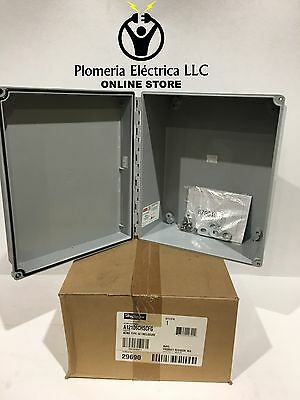 Hoffman A12106CHSCFG Type 4X 12x10x6 Wall Mount Junction Box Enclosure NEW!!!!!