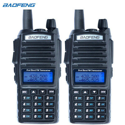 2PCS Baofeng UV-82 Dual Band Two-Way Radio 136-174MHz VHF & 400-520MHz UHF Black