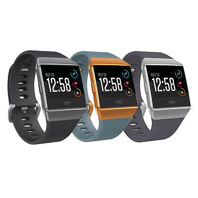 NEW Fitbit Ionic Smartwatch Fitness Tracker One Size (S&L Bands Included)