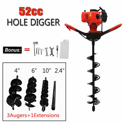 52CC Earth Auger Post Hole Diggers Air Cooled Earthquake Augers Gas Power Engine