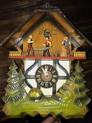 West Germany Cuckoo Clock E. Schmeckenbecher Regula Musical For Parts Or Repair