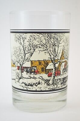 1978 Arby's Glass Collectors Frozen Up 4 of 4 Vintage Currier Ives New York City