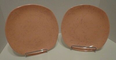 2 Retro Pink Salad Plates Luncheon Blue Ridge Southern Potteries MCM 8""