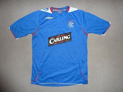 medium Glasgow Rangers FOOTBALL Shirt Rangers FC Soccer Jersey HOME 2005