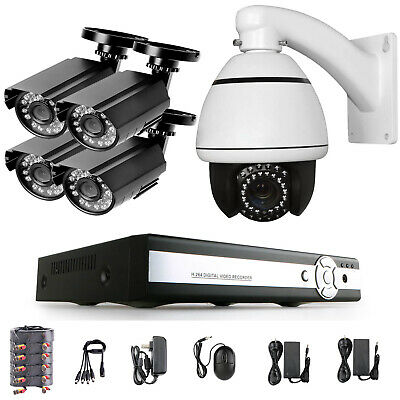 8CH 1080N HDMI DVR 720p Outdoor Security Camera System with Hard Drive 2TB +PTZ