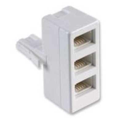 BT Telephone 3 Way Triple Adaptor Splitter FAX / Modem