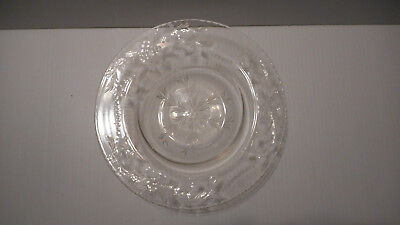 Hawkes Crystal Large Bowls  9 Inches Across  6 Lot Grapes Beads Vines Scarce