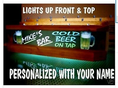 Personalized neon style LED 18 BEER tap handle display 3 TIER FOR KEGERATOR