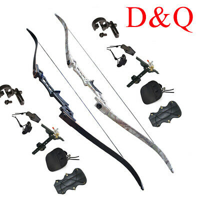 "Takedown Recurve Bows Sets Hunting Target 57"" Outdoor Steel Riser Training Hobby"