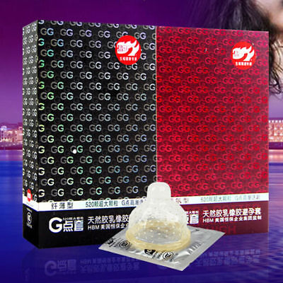 10pcs/set 520 Big Particle Spike Dotted Ribbed G-Point Latex Condoms AU HOT
