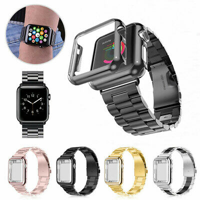 Apple Watch Series 5/4/3/2/1 Stainless Steel Wrist iWatch Band 38/42 Case Cover