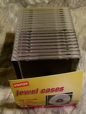 CD/DVD Jewel Cases [quantity 19] Color:  clear