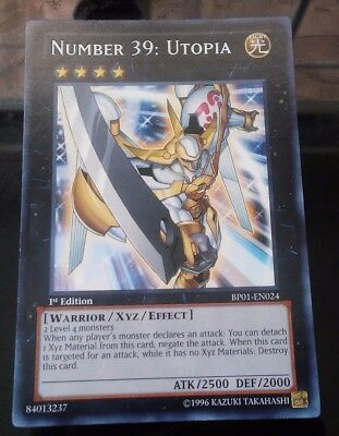 Yu-Gi-Oh! Number 39: Utopia BP01-EN024 1st Edition Common Lightly Played