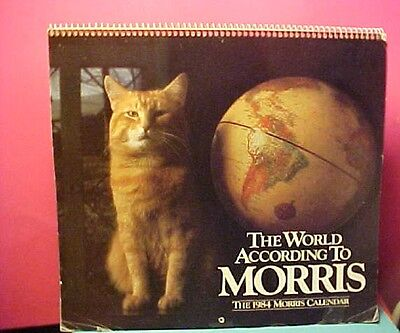 vintage 2018 Morris the Cat Wall Calendar from 1984
