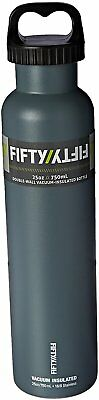 Vacuum Insulated Water Bottle with Two-Finger Grip Lid, 25 oz Slate Grey
