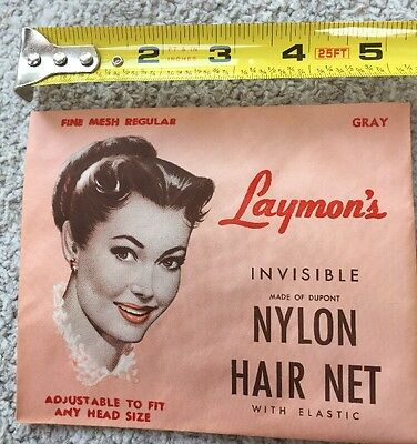 General Store Advertising NOS Empty Laymans HAIR NET with Product 1950s