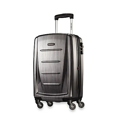 Samsonite Winfield 2 Fashion Hardside 1 Pc Spinner Set Charcoal with Travel Kit