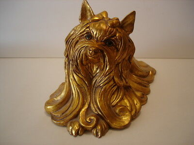 Vintage Kay Finch California Pottery Silkie Gold Yorkshire Terrier Dog