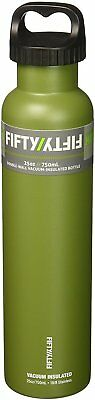 Vacuum Insulated Water Bottle with Two-Finger Grip Lid, 25 oz Olive Green