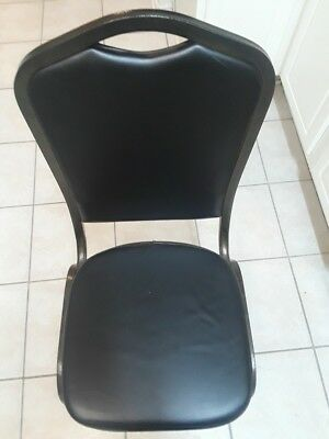 Used Banquet Stacking Chairswith Black 2.5'' Thick Seat & Metal Frame