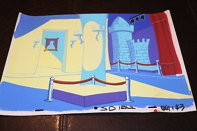Original Production Animation Art Hand-Painted Background of Museum / Castle