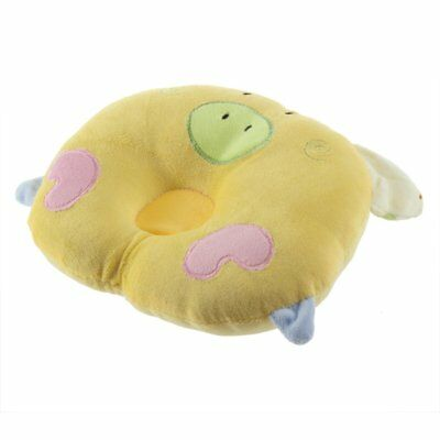 Pig Shaped Infant Toddler SleePing Support Pillow Prevent Flat Head Yellow J9G1