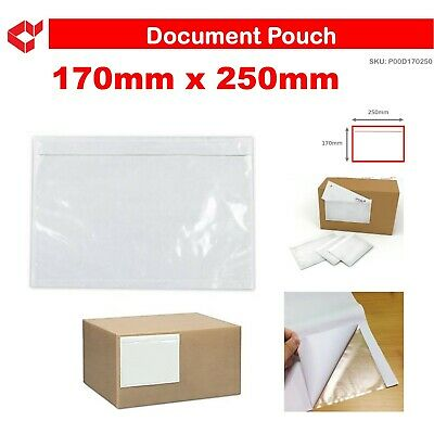 100x A5 Large Document Invoice Enclosed Sticker Doculope Pouch 170mm x 250mm A5