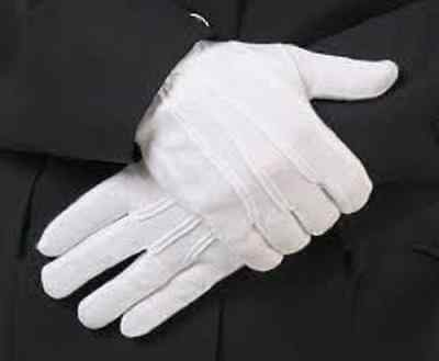 5/10 Pair Mens White Formal Gloves Tuxedo Honor Guard Parade Santa Inspection AU