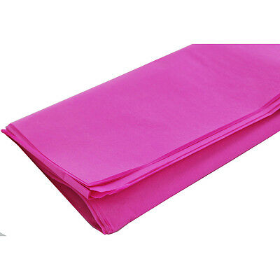 """100 x PINK SHEETS OF ACID FREE TISSUE WRAPPING PAPER SIZE 450 X 700MM 18 X 28"""""""