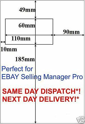 4000x 4000 eBay selling manager pro A4 Paper Integrated Peel off Label 14 F 14F