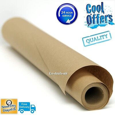 5m 5 750mm 750 STRONG BROWN KRAFT WRAPPING PAPER 90gsm roll rolls heavy duty