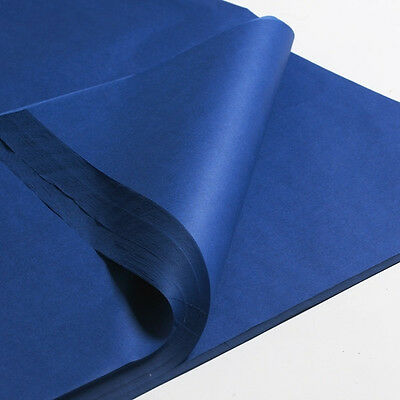 """100 x blue SHEETS OF ACID FREE TISSUE WRAPPING PAPER SIZE 450 X 700MM 18 X 28"""""""