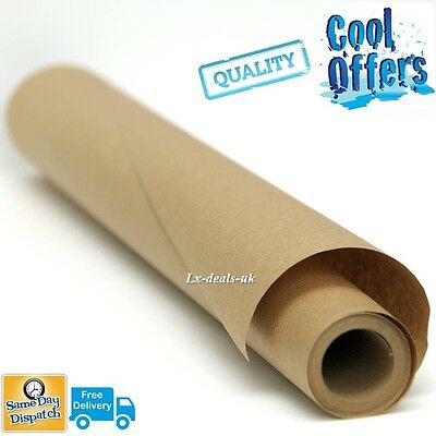 """25 25m x 600mm 24"""" 24 STRONG BROWN KRAFT WRAPPING PAPER 90gsm packaging quality"""