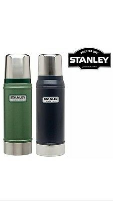 Stanley 0.75L Flask Stainless Steel Vacuum Bottle Classic Thermos Hot Drinks Uk