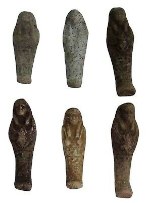 "4pcs Egypt Rare Mummy Ushabti 2.4"" Pharaoh Figure Statue Collectable Ancient"
