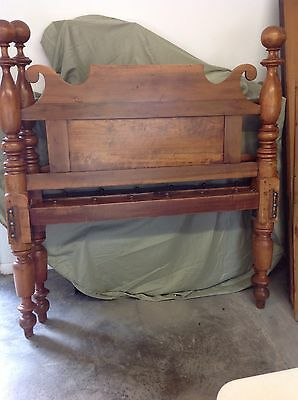 Antique Poplar Cannon Ball Bed 1860's - 1870's
