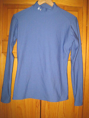 Under Armour Cold Gear shirt women's L blue yoga running soccer fitness hiking