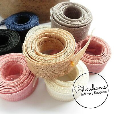 3cm wide Sinamay Bias Binding Strip 1.6m for Millinery and Hats - 30 COLOURS!