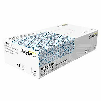 Unicare Stretch Vinyl Powder Free Gloves - Medium (GS0133) - Pack of 100