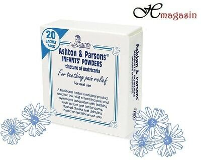 Teething Powders Ashton And Parsons 20 Sachets Infants Sealed | **FREE POST**