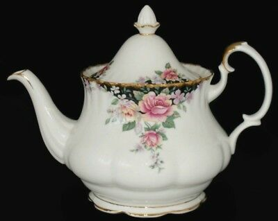 Royal Albert ~ Concerto Roses ~ 42oz Large Lidded Teapot ~ Very Rare!