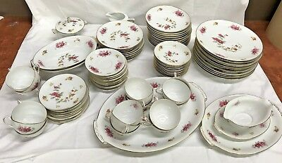 VTG China Set Cherry China Charmaine Japanese Cherry Blossoms Pink Yellow Japan