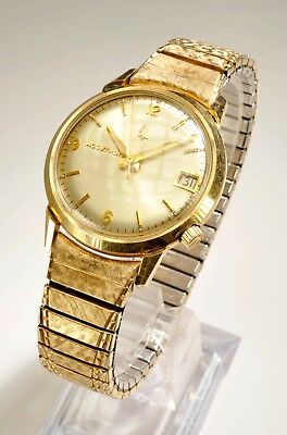 RARE VINTAGE ACCUTRON 14KT GOLD FILLED  TUNING FORK MENS WATCH -Baldwin Piano Co