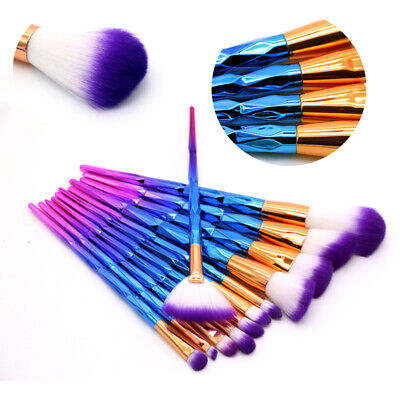 12Pcs Unicorn Makeup Brushes Set Powder Foundation Eyeshadow Comestic Brush Tool