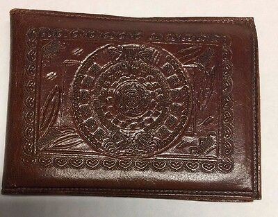 Vintage Mexican Leather Wallet Hand Tooled